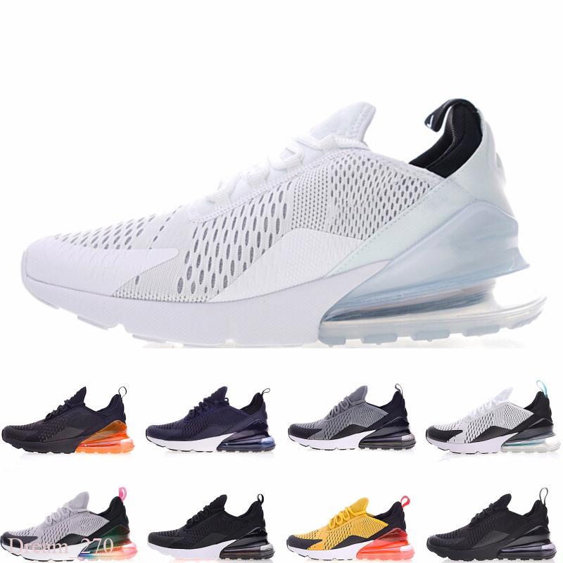 Nike Air Max 270 Triple Noir Hommes Chaussures 2020 Platinum Tint N7 Bred coeur blanc femmes mens chaussures de course entraîneur Chaussures sport Chaussures de sport