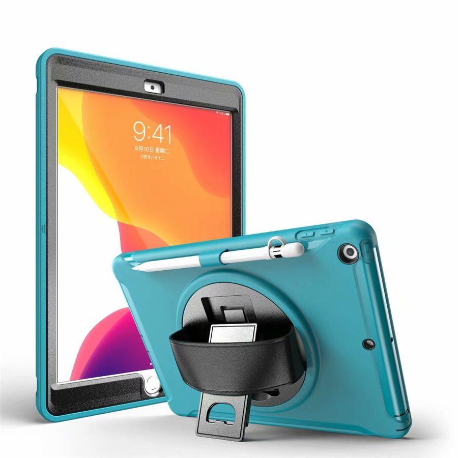 Titular Swivel 3in1 à prova de choque Tablet Case para iPad Air Pro 10.2 10.5 2019 Mini 2 3 4 5 Samsung T515 T860