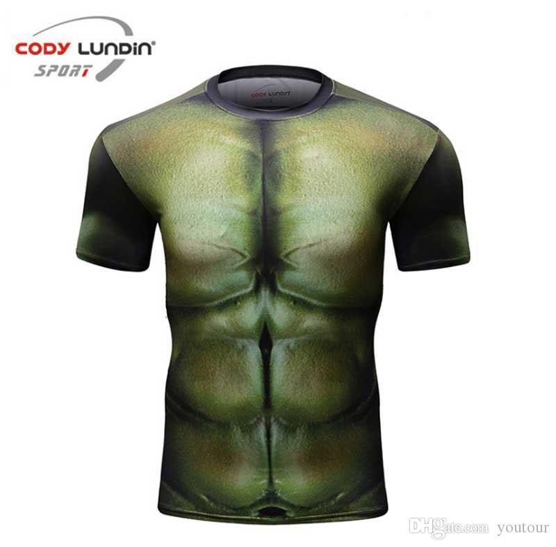 Erkekler Sıkıştırma kollu Vücut Külotlu bina Yeni Erkekler spor Tişörtlü Spor kısa giysiler Erkek Hızlı kuruyan gömlek Ücretsiz Kargo Tops