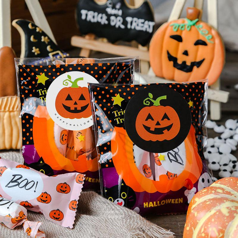 Cartoon DIY Decoration Party Favors Gift Packaging Supplies Paper Seal Label Candy Bags Sticker Pumpkin Halloween Stickers