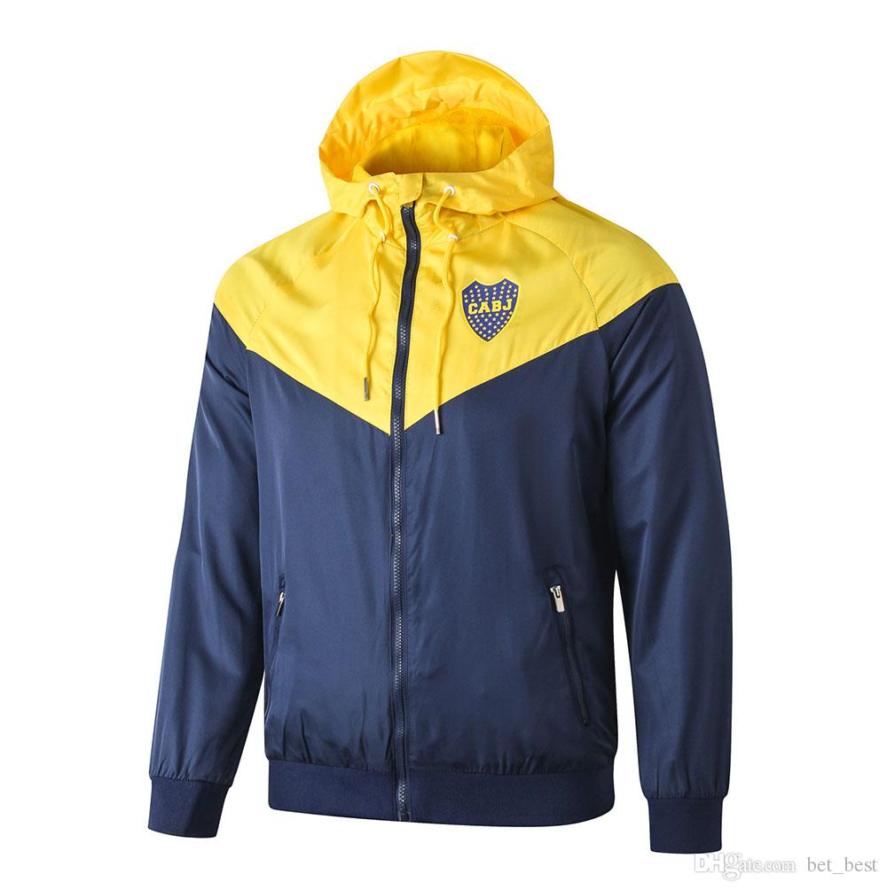 Boca Juniors 20-21 Mens Running Training Jacket Tracksuit Suit Set Size S-XL