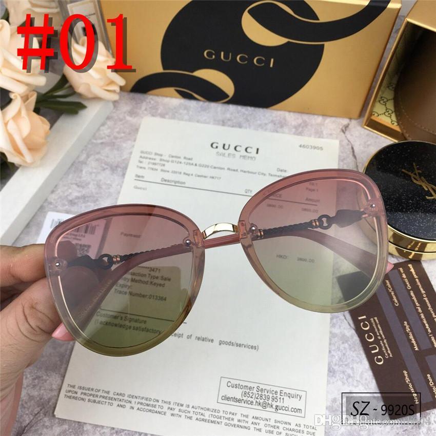 nouvelle mode classique lunettes de soleil lunettes de soleil cadre en or cadre en métal carré style vintage design en plein air classique avec boîte