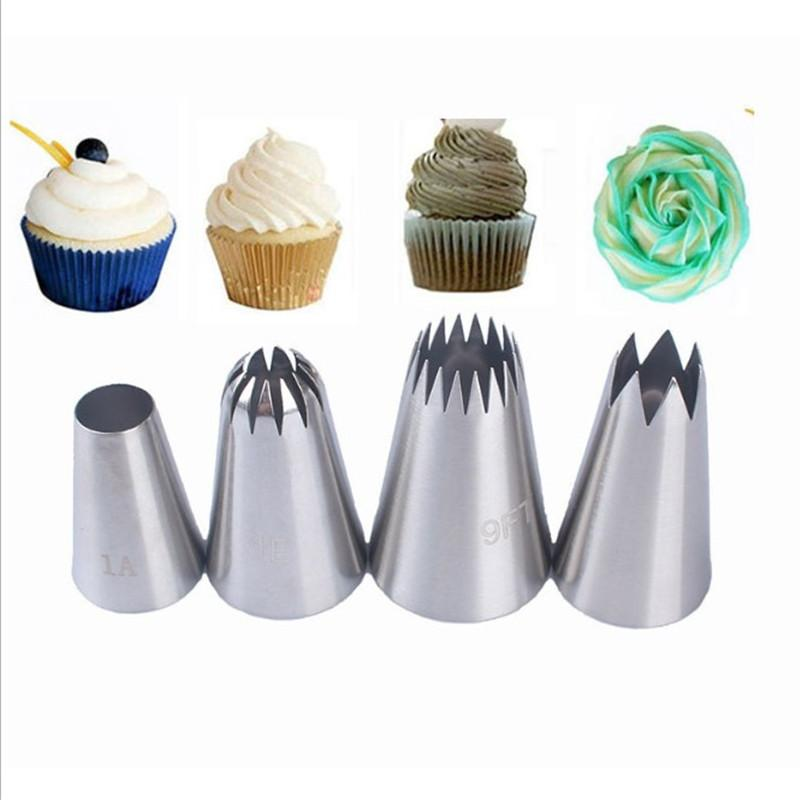 4PC Silicone Icing Bags Pastry Bag Piping Cream Pastry Bag DIY Cake Baking Tool