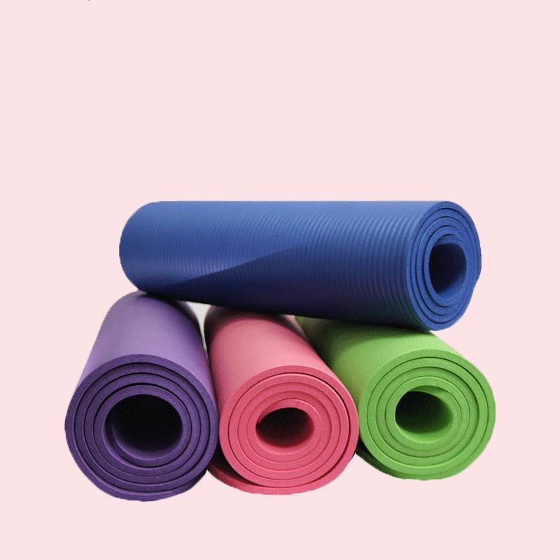 Fitness Yoga Mat 183 * 61 * 8cm épais tout usage tapis de yoga pour Yoga Pilates exercice très épais durable en mousse Sangle inclus A08