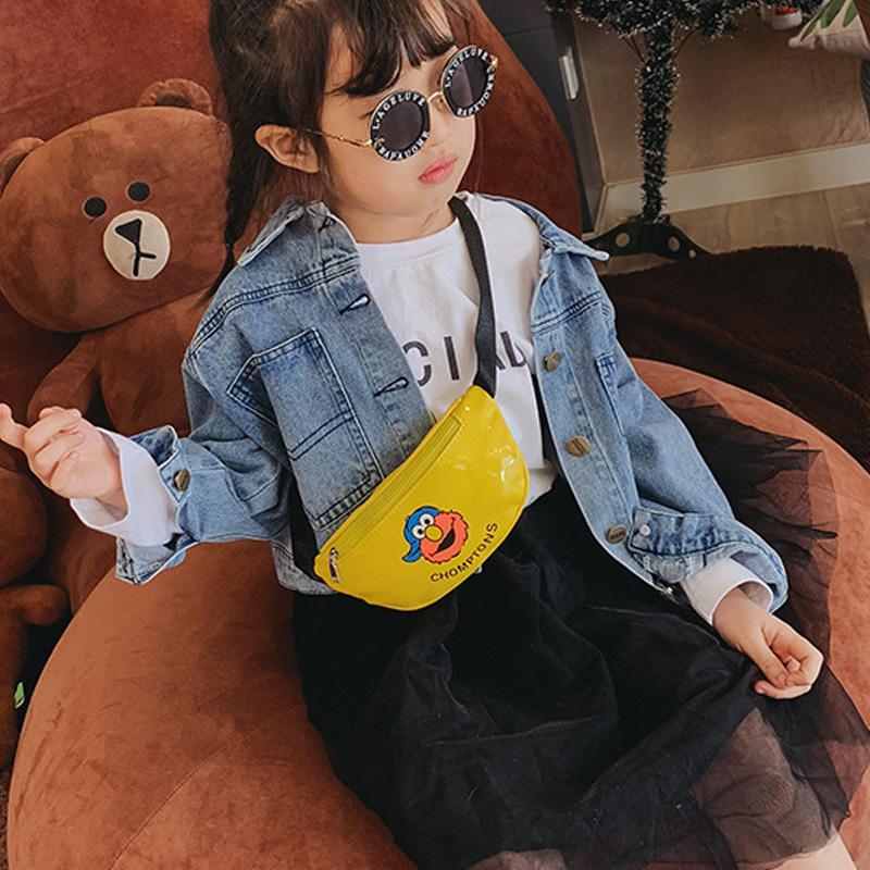 Çocuk Karikatür Bel çantası Boy Kız Kuşak Çanta Çocuk Fanny Paketi PU Deri Omuz Crossbody Muz Göğüs Çanta Çanta İçin Çocuk