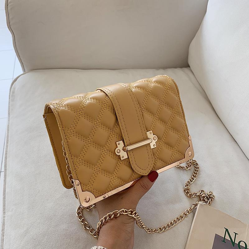 Дизайнер-2019 новая мода сумка письмо металлическая окантовка сумка леди сумка цепи сумки широкие сумки на ремне diyi/7