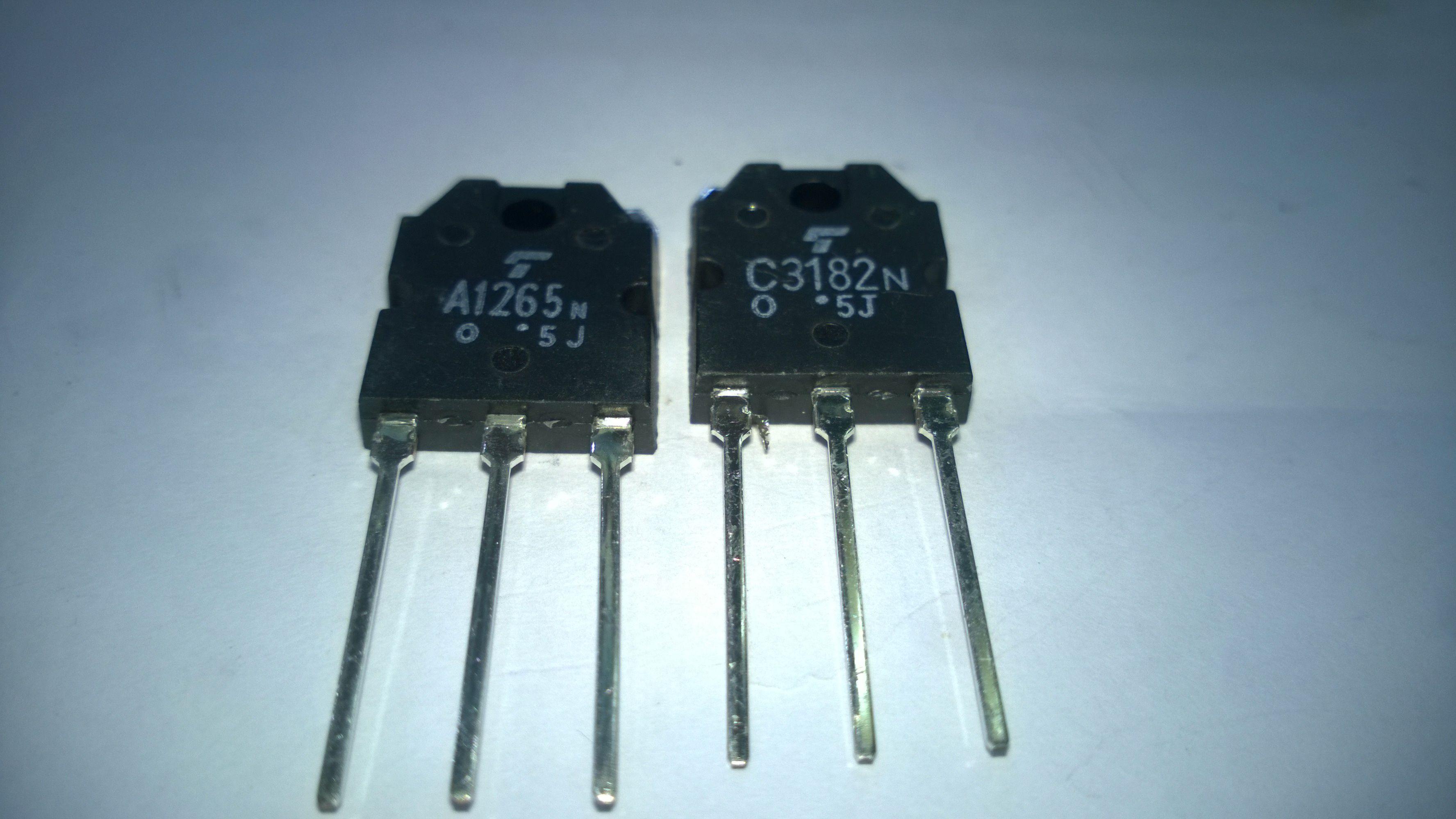 Freies Verschiffen 2SA1265 2SC3182 2SA1265N 2SC3182N (A1265N C3182N) TO3P Neu und Ursprung 5 Paare = 10 TEILE / LOS