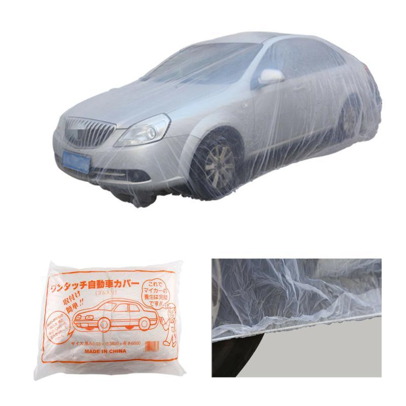 Disposable Car Cover Waterproof Transparent Plastic Cover Car Rain Covers Waterproof Rain Covers