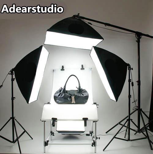 Livraison gratuite studio de photo softbox photo série équipement photographique lampe de tétralogie lampe 4 softbox station de prise de vue photographie jeu de lumière CD50