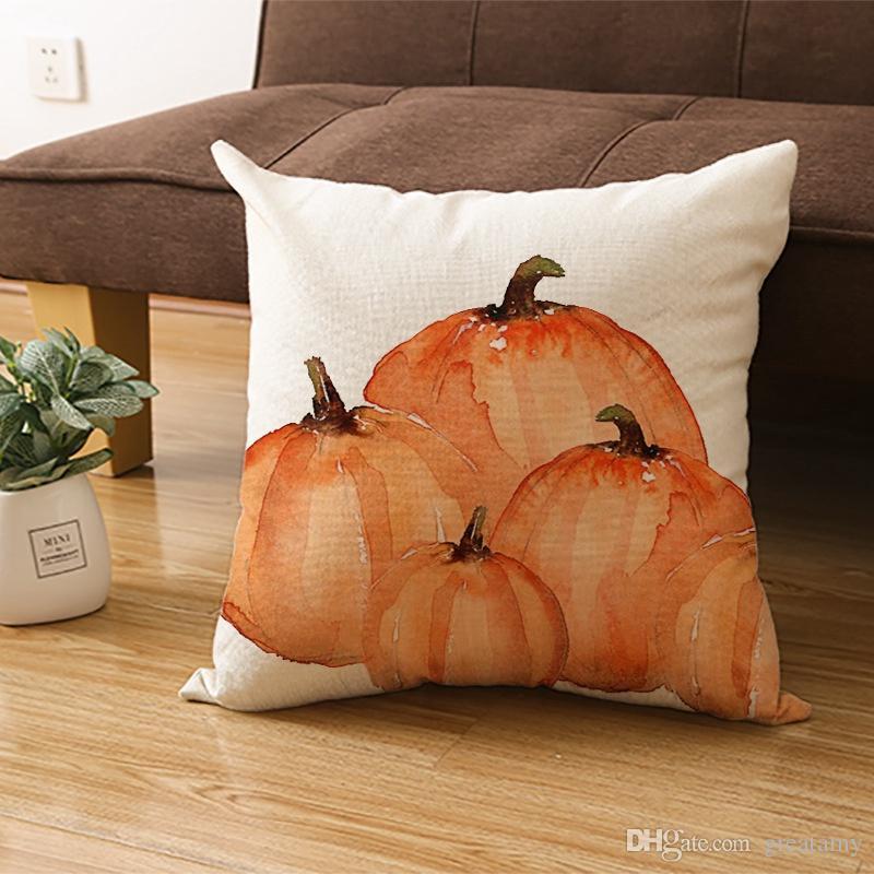 Новый дизайн День благодарения наволочки горячая продавать белье подушки обложки тыква напечатана квадратная наволочку бесплатной доставка