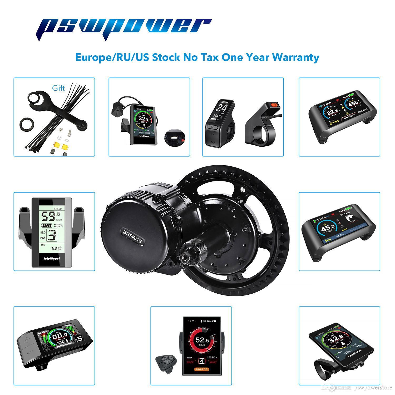 유럽이나 중국 stock 48V 750W (25A) 팔방 8fun BBS02B 중반 드라이브 모터 자전거 전기 자전거 변환 키트 최신 버전