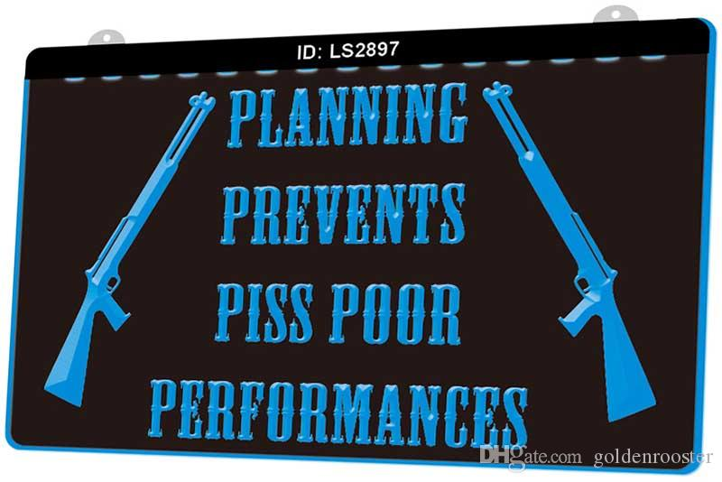Símbolo LS2897 pistola Planificación Evita Piss Poor Actuaciones Nueva 3D de luz LED de grabado Personalizar bajo demanda color múltiple