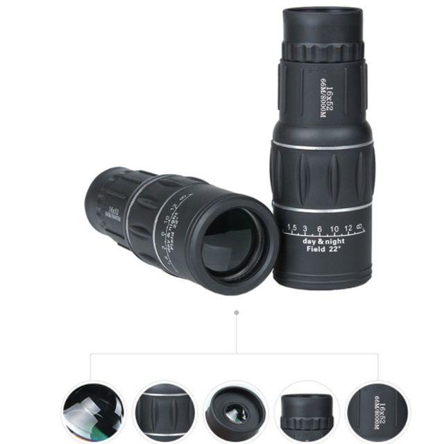 Brand New High Quality Adjustable 16X52 Mini Dual Focus Optic Lens Outdoor Travel Monocular Telescope Tourism Scope OTC001