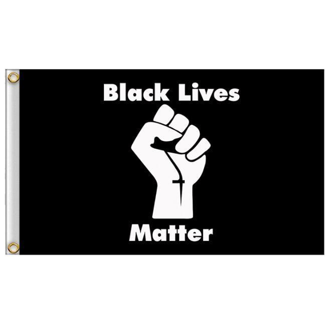 90x150cm SİYAH MADDE Bayrak Banner Siyah protesto afiş Amerikan Parade Bayraklar Parti Can Özel GGA3432-2 Malzemeleri LIVES
