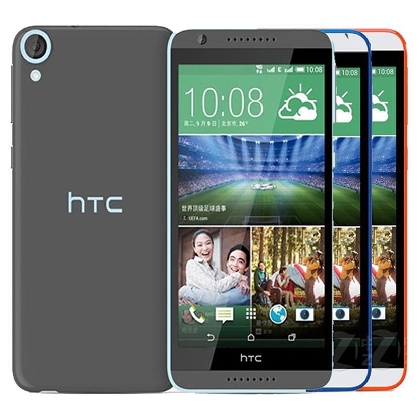 새로 단장 한 원래 HTC 디자 이어 820 듀얼 SIM 5.5 인치 옥타 코어 2기가바이트 RAM 16기가바이트 ROM 1300 만 화소 4G LTE 잠금 해제 안드로이드 휴대 전화 무료 DHL 연습장