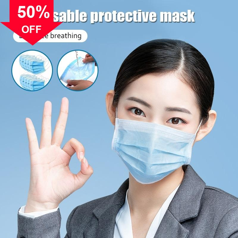 Rk9J6 Premium 3 strati tessuti non tessuti per bambini lavabili in tessuto maschera monouso viso con Ear Loop Melt-soffiato /