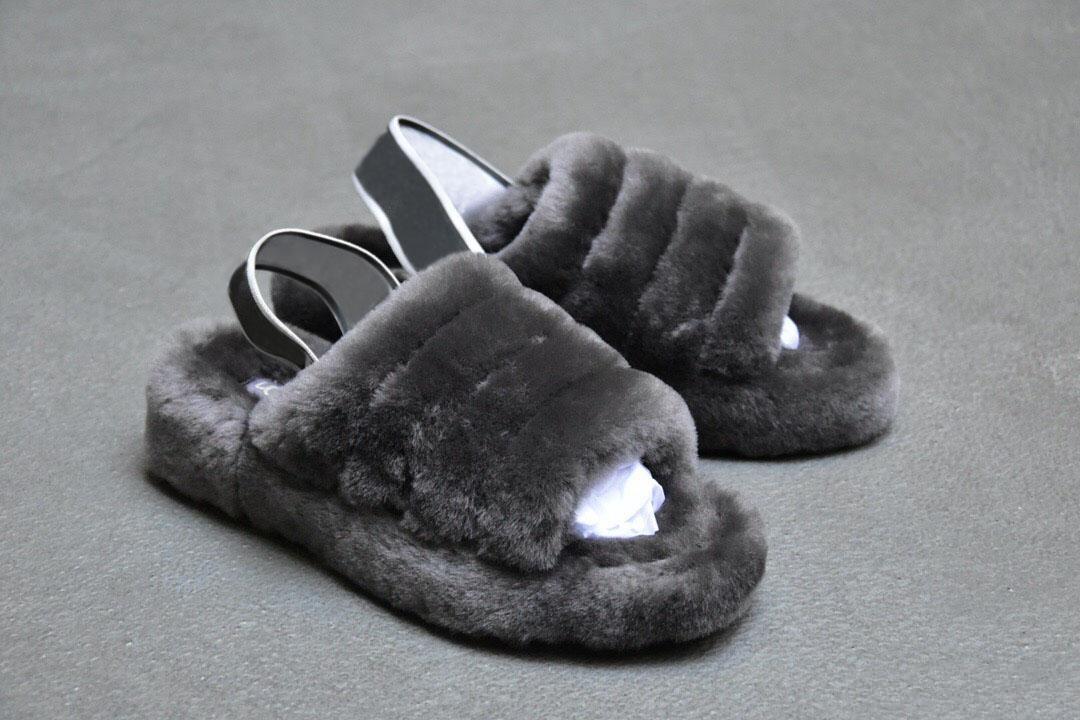 Designer-er chinelo Furry New arrivel mulheres menina Confortável moda quente cinza rosa quente preto