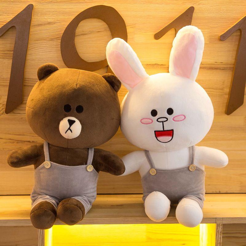 Creative Plush Toys Dressing Teddy Brown Bear Bath Towel Connie Rabbit Gift Customization Anime Plush PP Cotton Fashion Kids Toys
