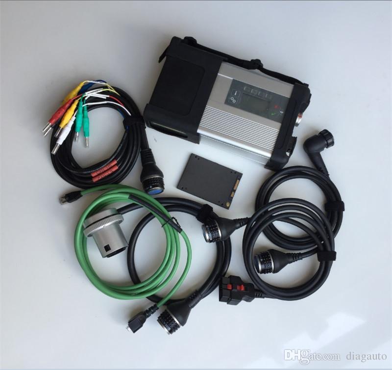 Scanner de diagnostic MB étoile C5 sd connexion 5 V2020.06 soft-vaisselle hdd / ssd Star Diagnosis Compact 5 étoiles pour les voitures et les camions mb diag