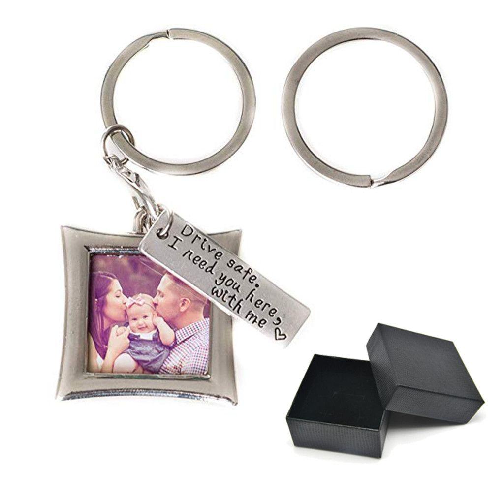 День Новый дизайн моды Drive Safe брелок Элегантный мини фото рамка Совершенный брелки подарок Валентина подарок для любовника