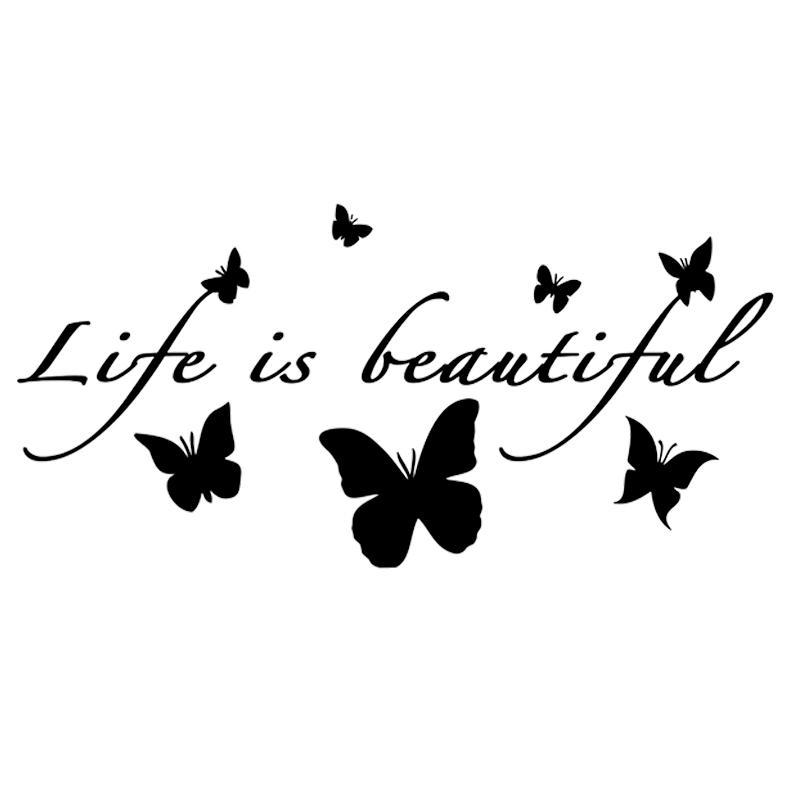 16 * 7.7cm Life Is Beautiful Butterflies Хорошего дизайн стикер Красивого мотоцикл внедорожники бампер автомобиль стилистика