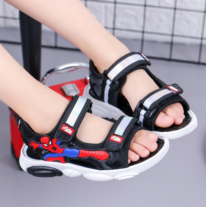 2020 летняя детская обувь бренд с открытым носком малыш мальчики Человек паук мультфильм сандалии ортопедические спортивные искусственная кожа детские мальчики пляжные сандалии T200427
