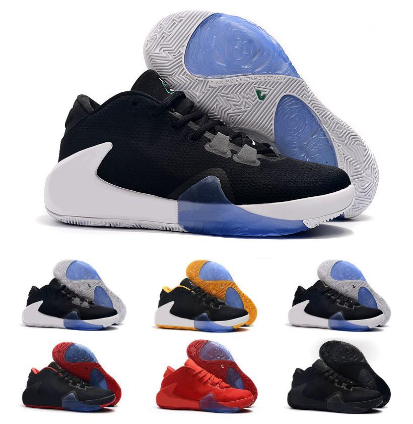2019 New MVP Giannis Antetokounmpo Greek Freak 1 Triple Black signature Basketball Shoes Women Mens Kid Sport Designer Sneakers Size 36-46