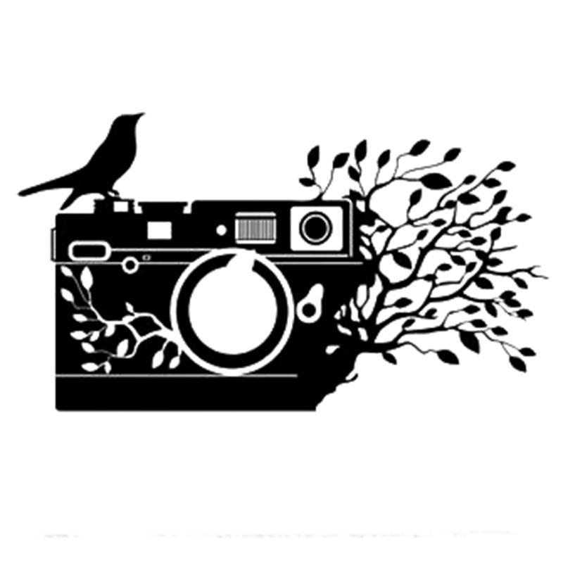 17 * 9.7cm Kamera Fotoğraf Çıkartması Komik Araba Pencere Tampon Yenilik JDM Drift Vinil Decal Sticker