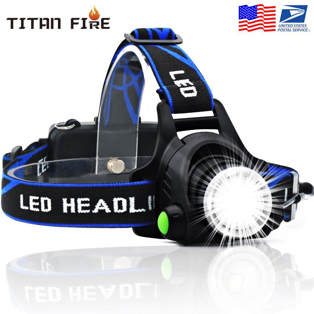 Светодиодный налобный фонарь 3 режима T6 Zoomable Светодиодная головная лампа Фонарик Фонарик Фара с водонепроницаемым освещением для рыбалки на открытом воздухе