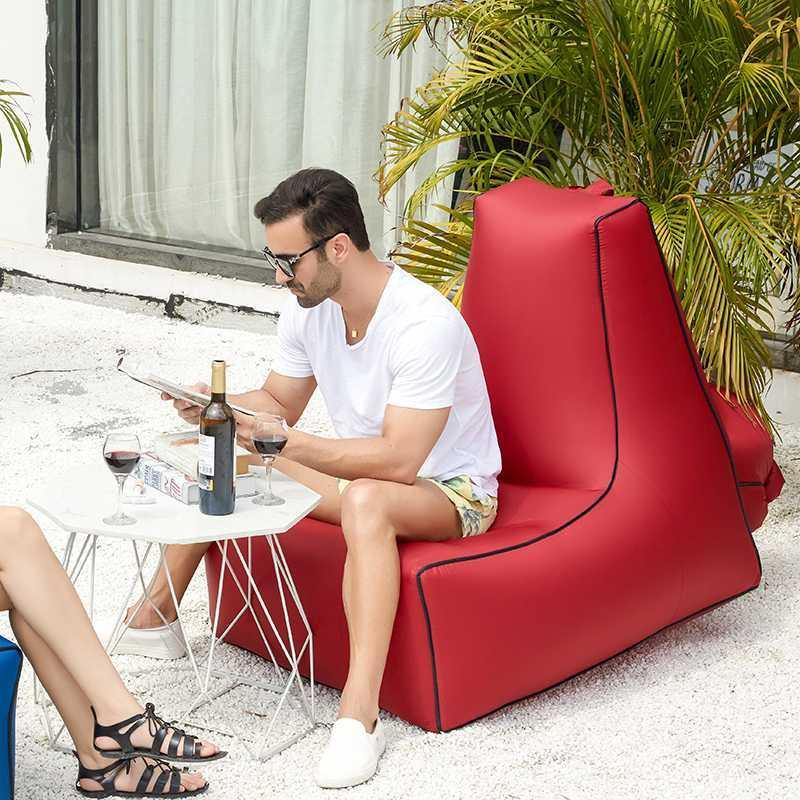 garden air sofa beanbags portable single moisture water proof floor inflatable lazy sofa bed outdoor bean bag beach mat