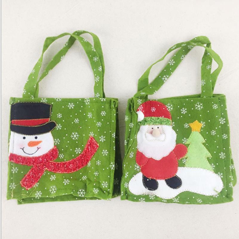 Творческий Санта-Клаус подарочные пакеты с Рождеством конфеты сумки Декор Рождество подарков Снеговик Новый год Подарочные товары Главная партия
