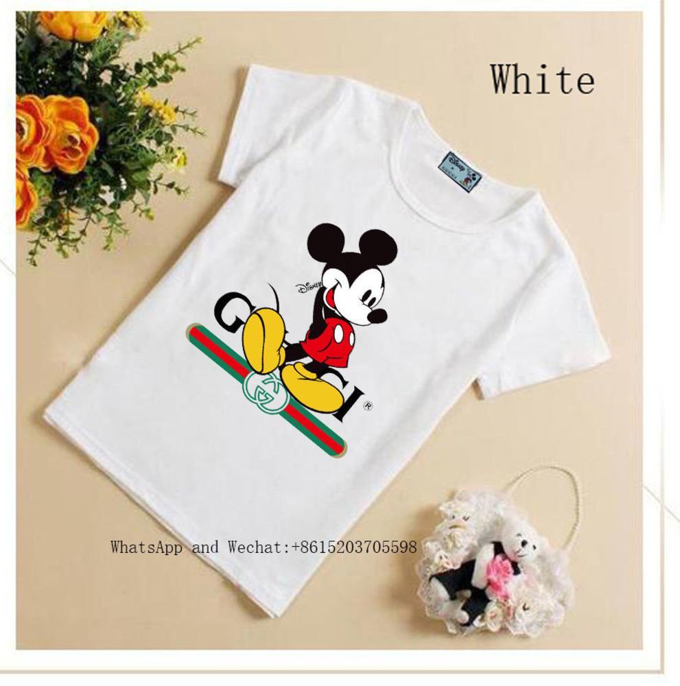 Новый шаблон детские летние с коротким рукавом симпатичные футболки женские мальчики чистый цвет дна блузки футболки 031615