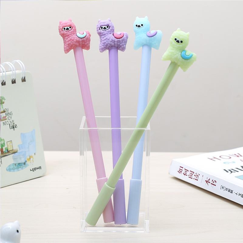 12pcs divertente colorato Alpaca penna del gel Cute Anime stazionario Scuola ufficio Materiale cosa la cancelleria DELLE MERCI
