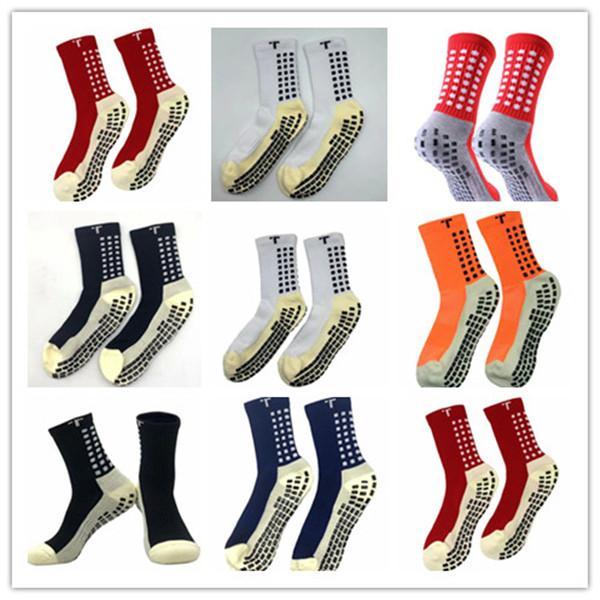 mix order 2019/20 sales football socks non-slip football Trusox socks men's soccer socks quality cotton Calcetines with Trusox