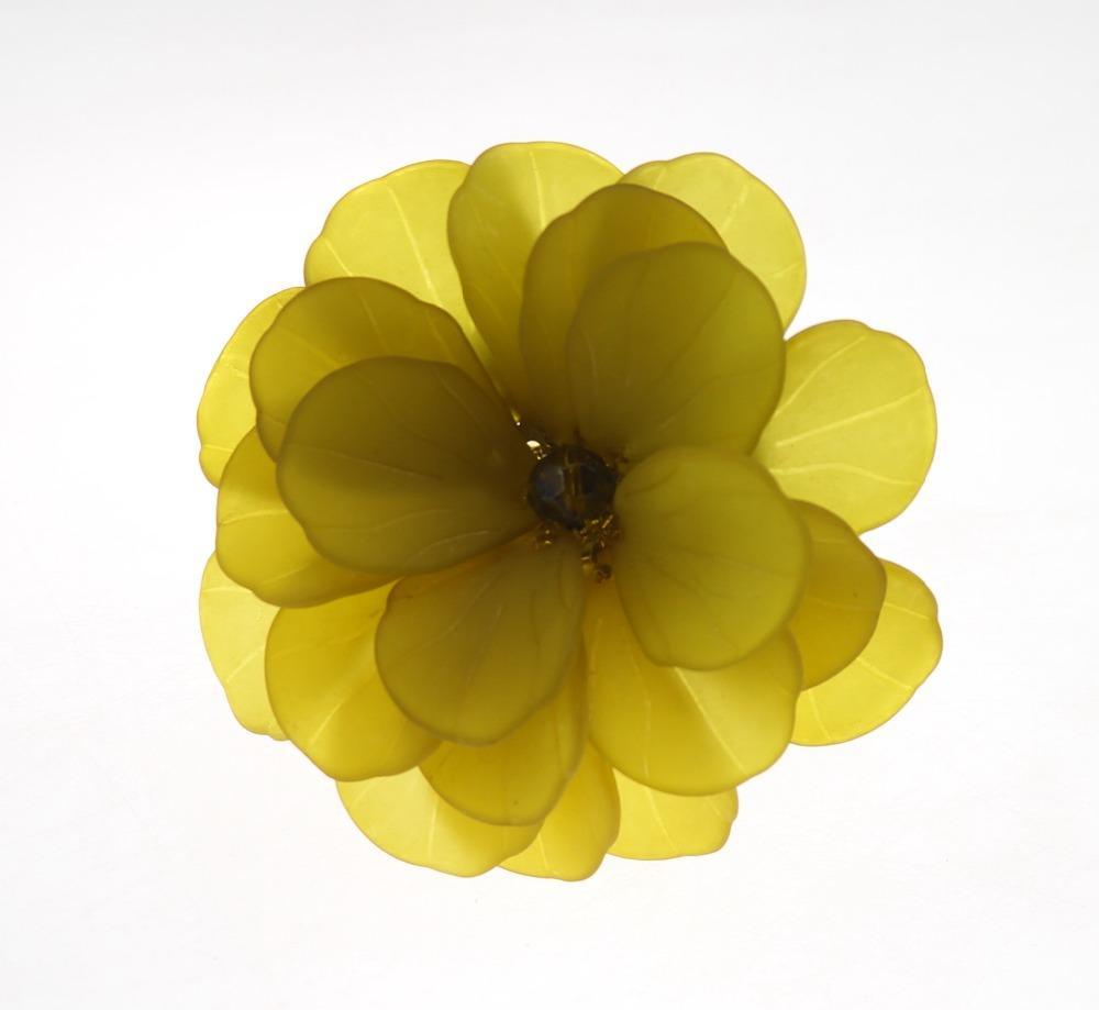 Livraison gratuite perles bague serviette fleur porte-serviette de fleurs pour le mariage de couleurs 12 pcs