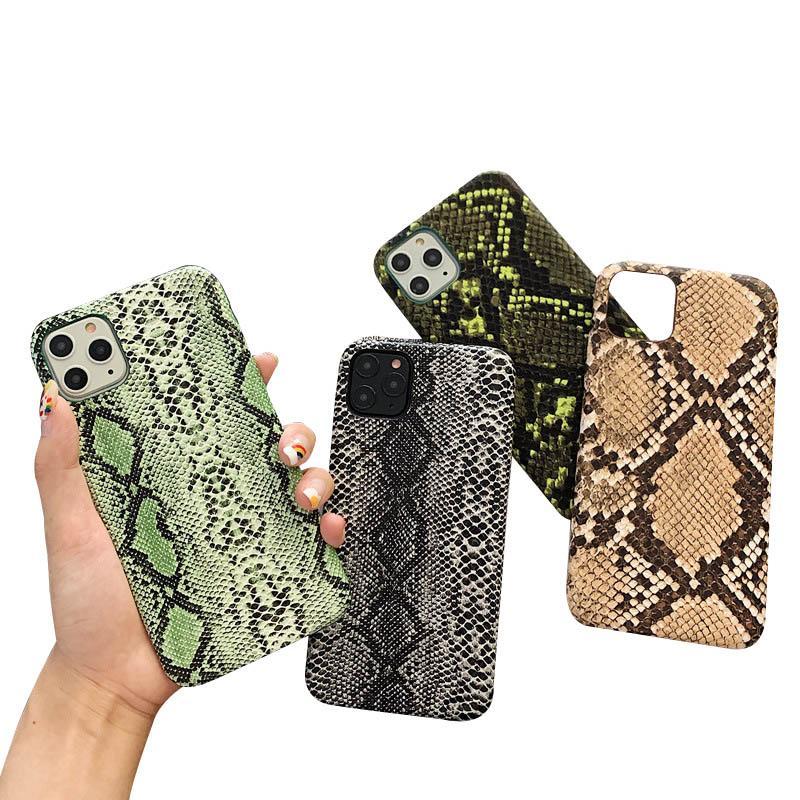 Casos de telefone de luxo para iPhone 11 pro caso max Snakeskin padrão Capa para iPhone XS MAX XR X 8 7 mais o caso de escudo