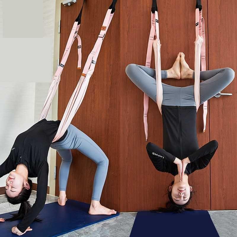 Household Anti-Gravity Yoga Hammock Swing Parachute Fabric Inversion Therapy Yoga Gym Hanging Decompression Hammock Female