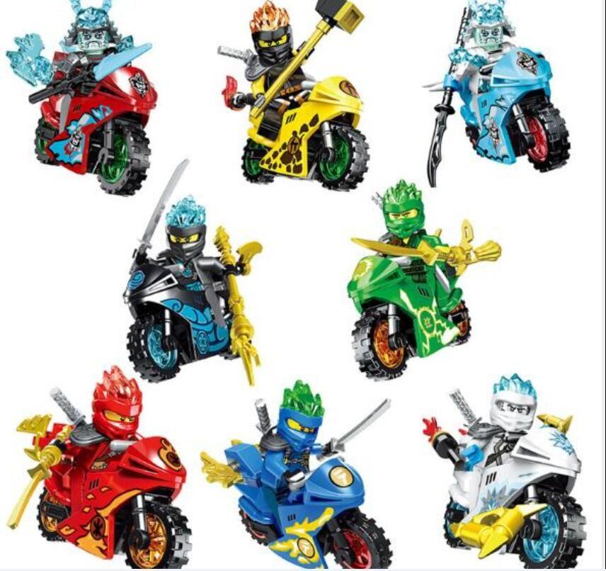 8 Стиль Phantom Ninja серии мотоцикл головоломки собраны строительные блоки Minifigures детские игрушки Puzzle Собранный Строительные блоки детей