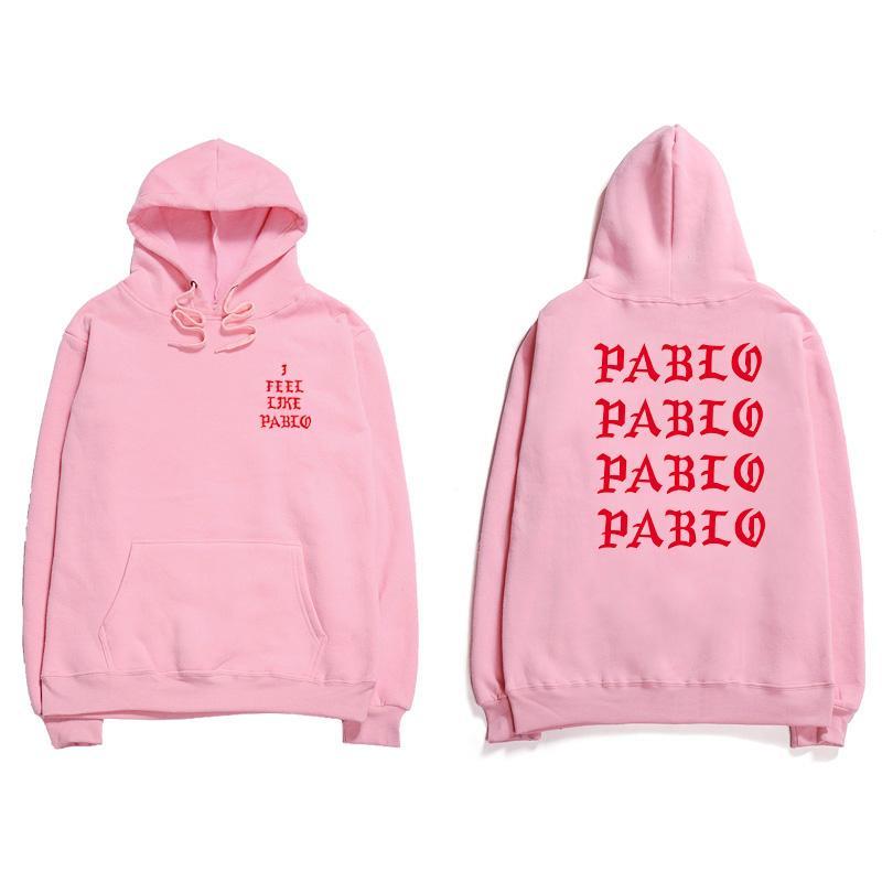 Hip Hop Hoodies Men I Feel Like Pablo Kanye West Streetwear Hoodie Sweatshirts  Letter Print Hoodie Club