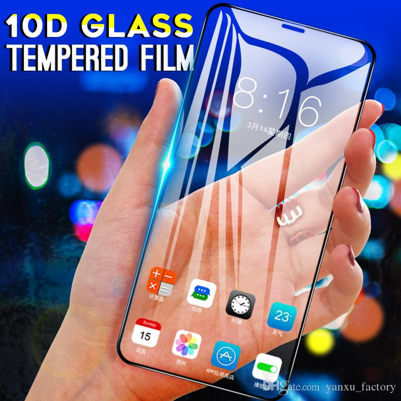 10D Full Cover Tempered Glass For iphone SE 2020 8 7 Plus 6 Glass Screen Protector On The iphone X XS MAX XR 11 Pro Protective Glass