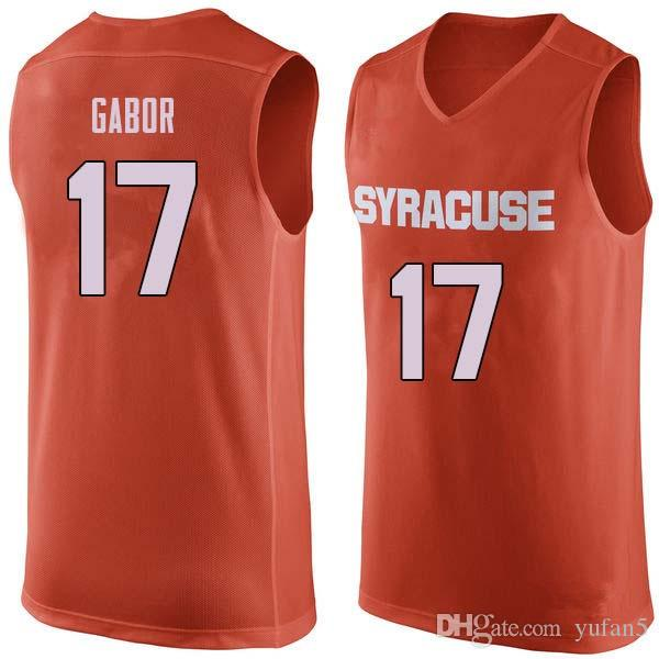 2019 Syracuse Orange College #17 Billy Gabor #19 Wilmeth Sidat Singh #20 Robert Braswell Basketball Jersey Mens Stitched Custom Number Name Jerse From