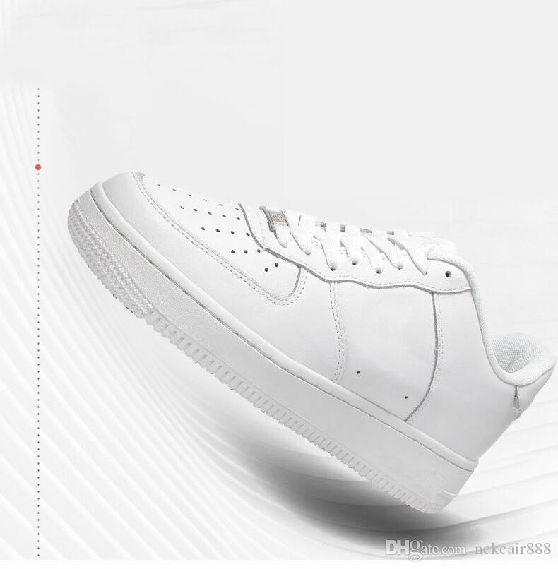 Al por mayor Nueva hombres obligaron a los zapatos bajos transpirable Una AF1 de punto diseño euro del aire de alta Mujeres Todos Blanco Negro rojo de la manera de los zapatos ocasionales