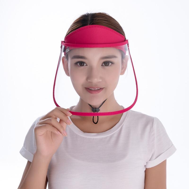 Máscara chapéu Máscara Produtos Domésticos de protecção transparente Anti Gota Dust-proof Protect completa Rosto Covering Visor Escudo cobrir o rosto