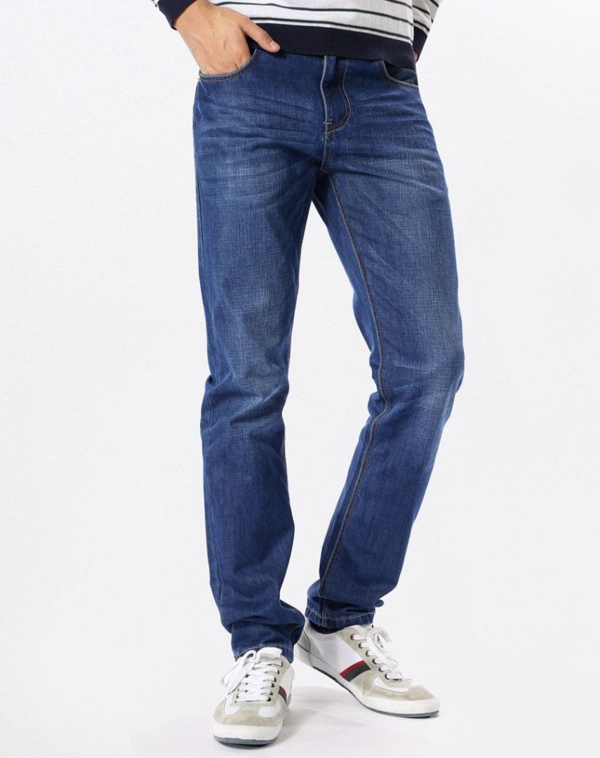 Haijian стандартный Весна Мужская одежда Чжи продать брюки мода город прямой вырез джинсовой синий Shoppe бизнес повседневная Оптовая 351