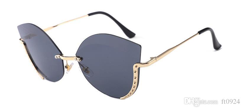 Novos óculos de sol de alta definição meia-armação na Europa e América, retro óculos de sol de olho de gato, anti-ultravioleta mudança gradual goggl