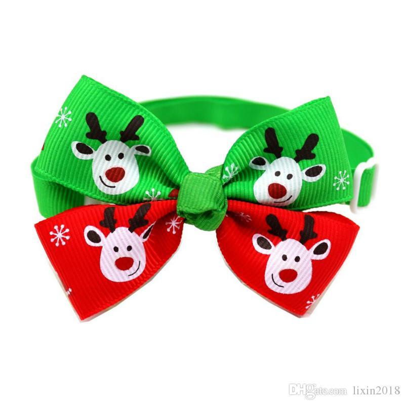 제 크리스마스 휴일 애완 동물 고양이 개 목걸이 나비 넥타이 조정 넥 스트랩 고양이 개 정리 액세서리 애완 동물 제품 크리스마스 용품