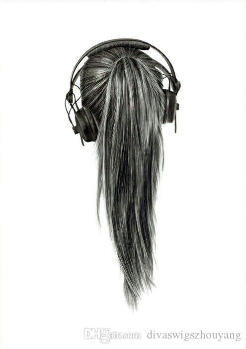 DIVA Mode Remy Natural Human Made Clip In Pferdeschwanz Haarverlängerung 10-22 Zoll Pferdeschwanz Haarteil Wrap natürliche schwarz 1b 100g-120g