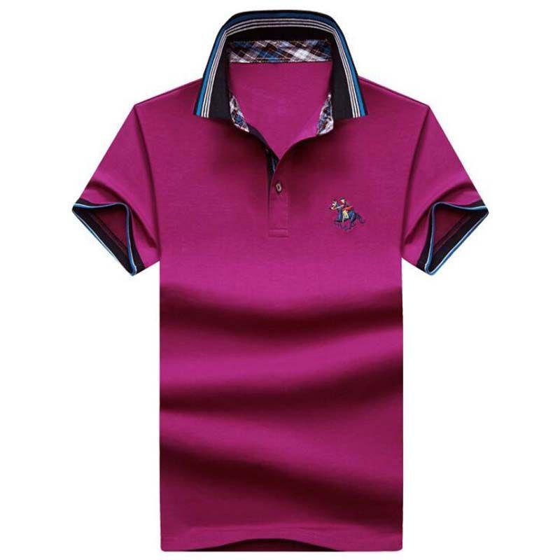 Лето Мужская Polos Новая мода Мужская рубашка поло для мужчин Polos Мужчины сыпучих коротким рукавом Комфортное Polo