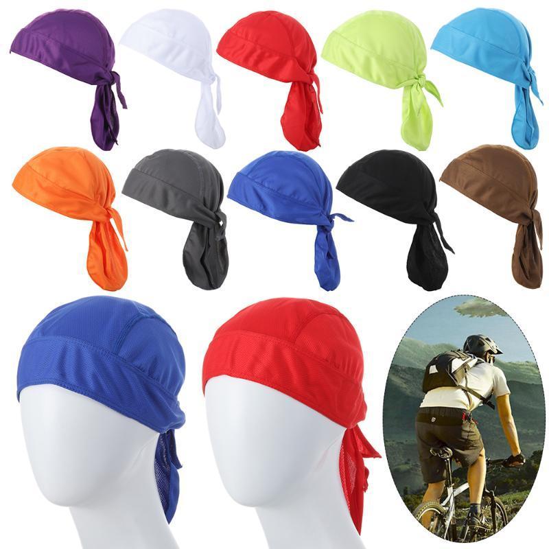 High Quality Unisex Men Women Quick Dry Breathable Pirate Cap Magic Headband bandana Bike Bicycle Cycling Riding Cooling Hats