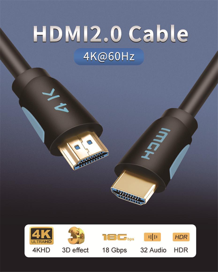كابل HDMI 2.0 HDMI إلى HDMI 3M 5M 8M 10M 15M دعم ARC 3D HDR 4K 60HZ HD فائقة لتحويل الفاصل PS4 TV صندوق العارض